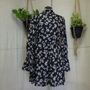 Lucca couture Boho long sleeve back keyhole dress